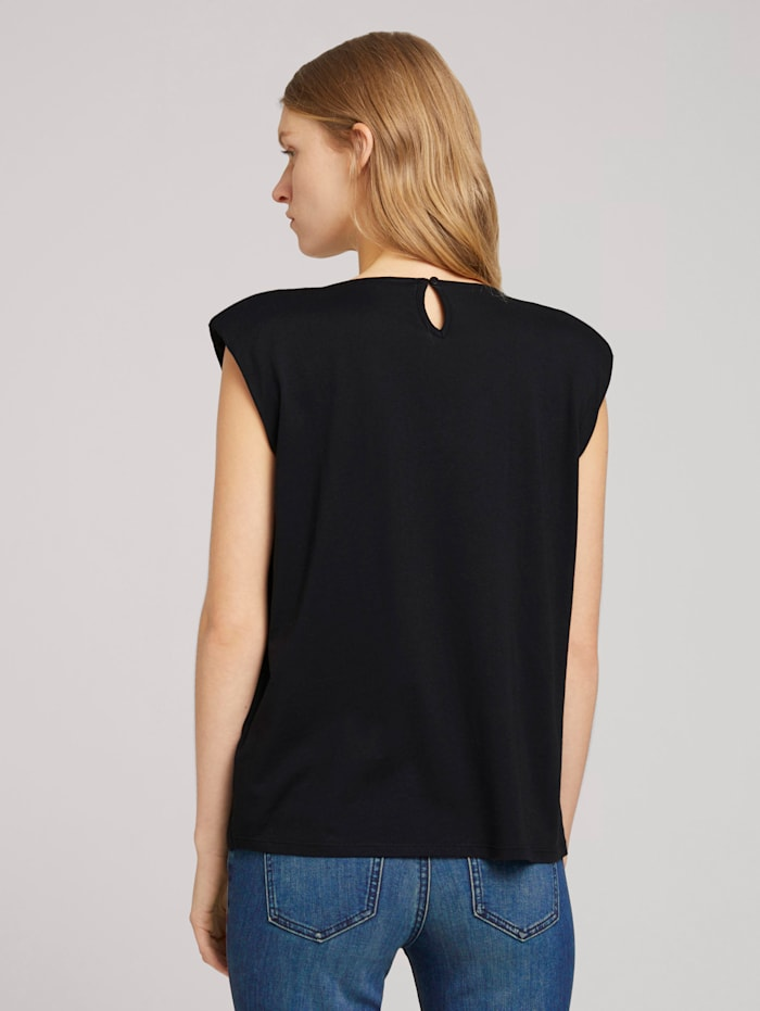 T-Shirt mit Schulterpolstern