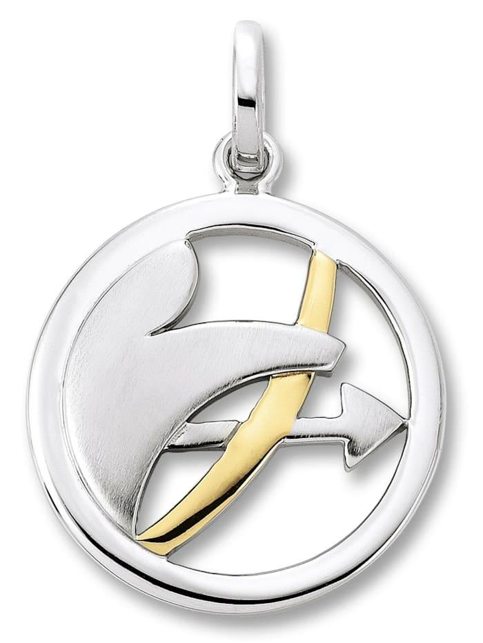One Element Damen Schmuck Sternzeichen Anhänger Schütze aus 925 Silber, silber