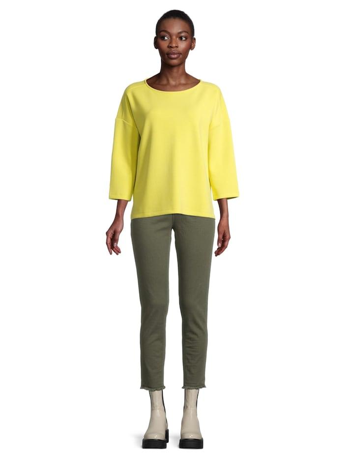 Casual-Sweatshirt mit Seitenschlitzen