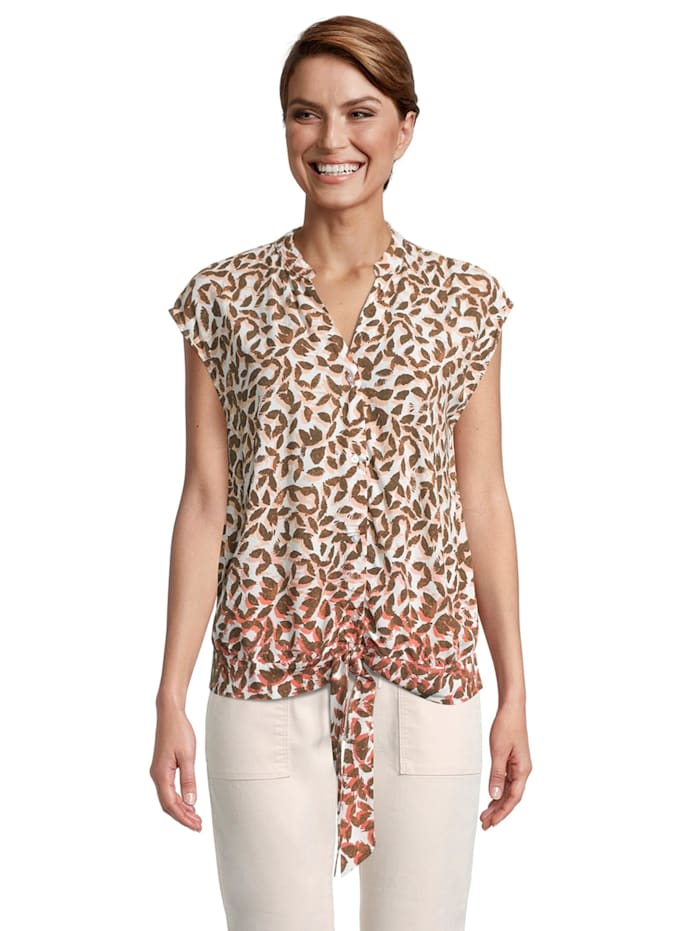 Betty & Co Casual-Bluse mit Print Form, Schwarz