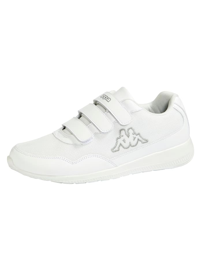 Kappa Sneakers avec brides auto-agrippantes, Blanc