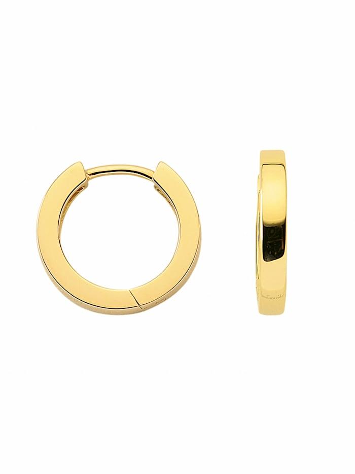 1001 Diamonds 1001 Diamonds Damen Silberschmuck 925 Silber Ohrringe / Creolen Ø 13,5 mm, vergoldet