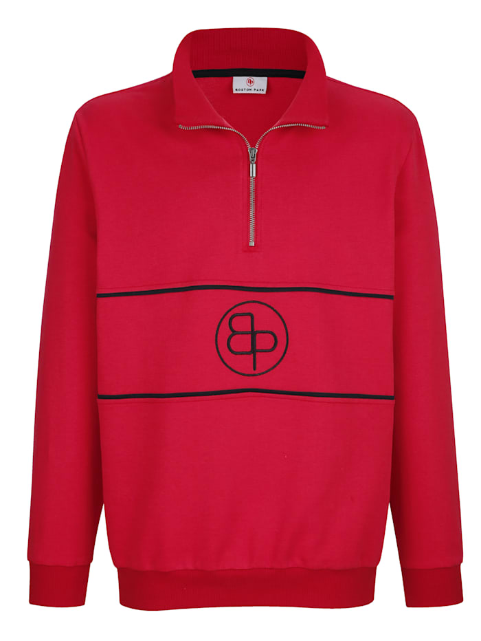 Boston Park Sweatshirt met borduursel voor, Rood