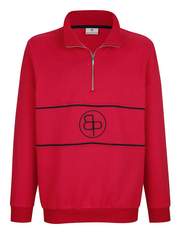 Boston Park Sweatshirt mit Stickerei im Vorderteil, Rot