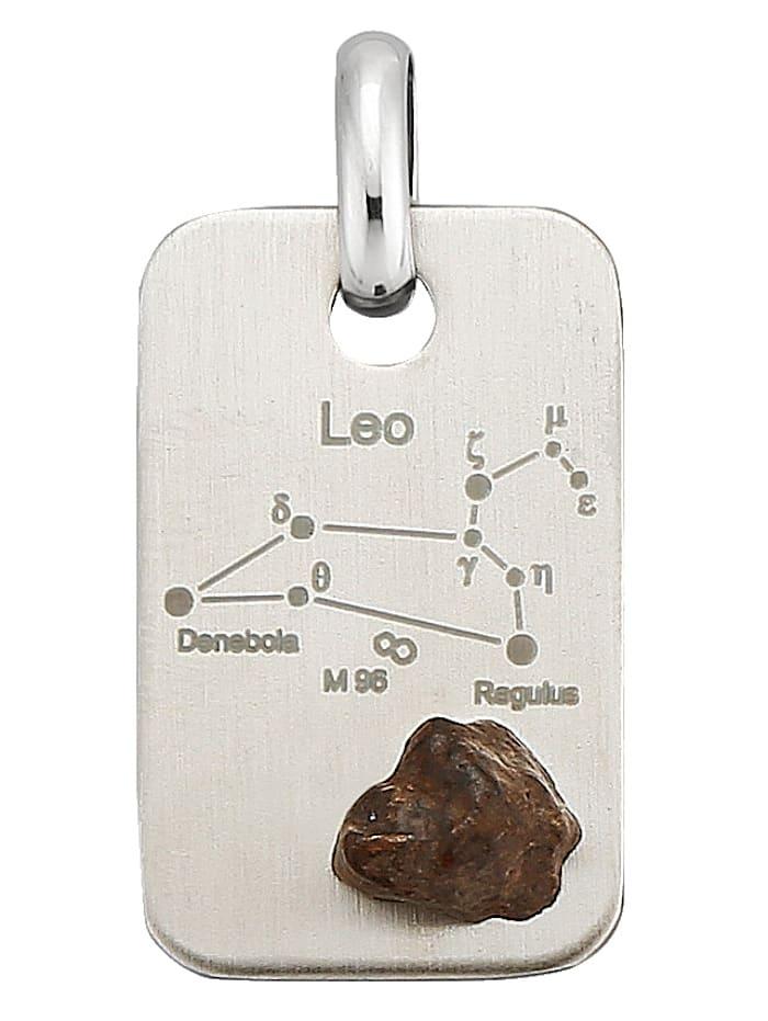 Sternzeichen-Anhänger mit Meteorit, Silberfarben