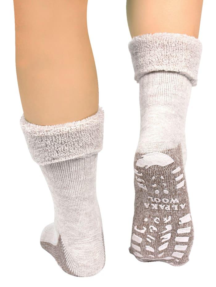 Chaussettes en laine d'alpaga 2 paires