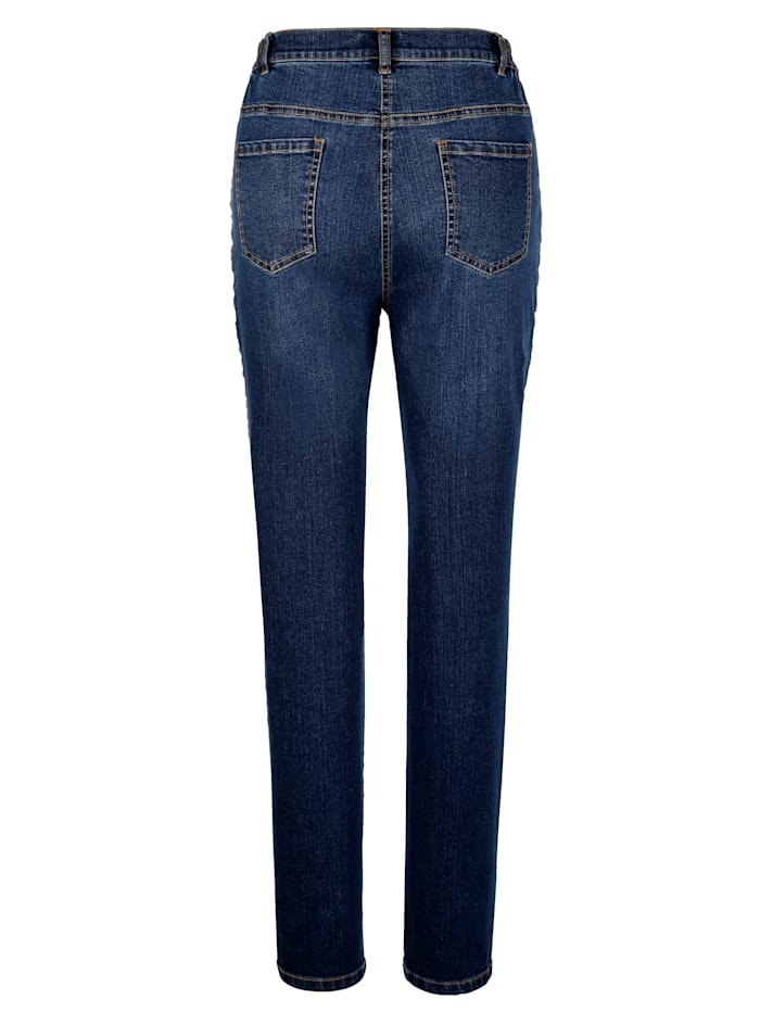 Jeans met modieus piping