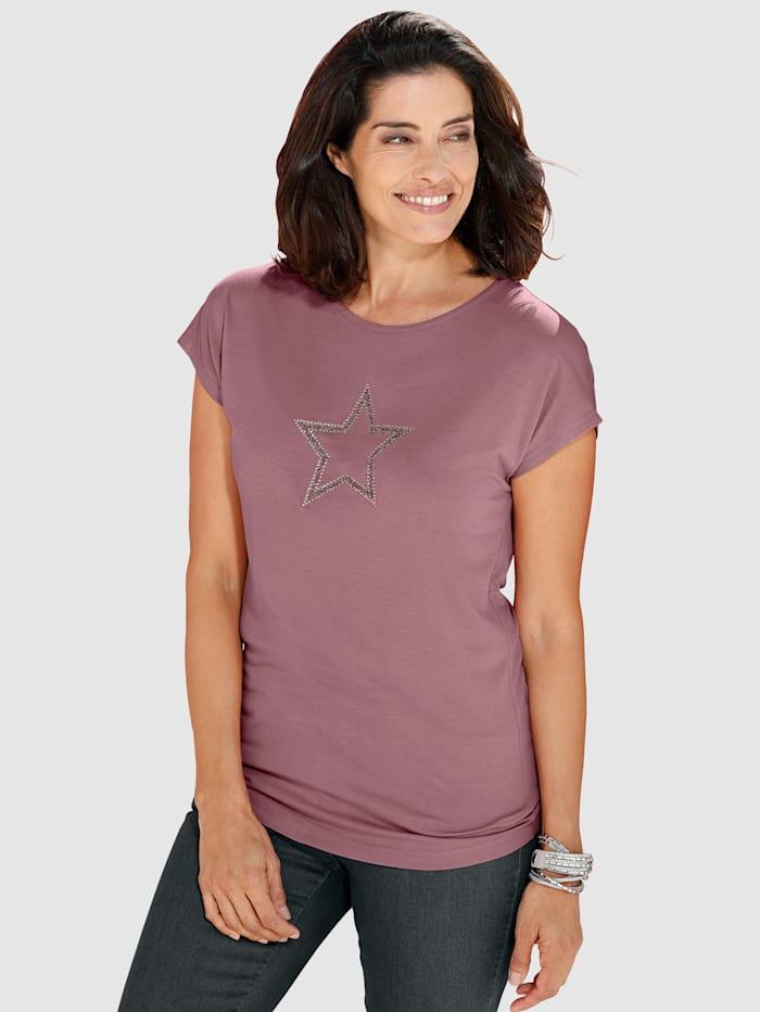 Shirt met strassteentjes