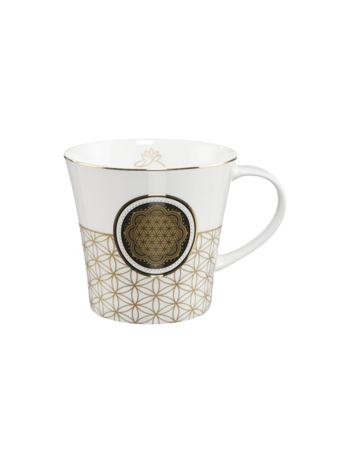 Goebel Goebel Coffee-/Tea Mug Blume des Lebens weiß, Bunt