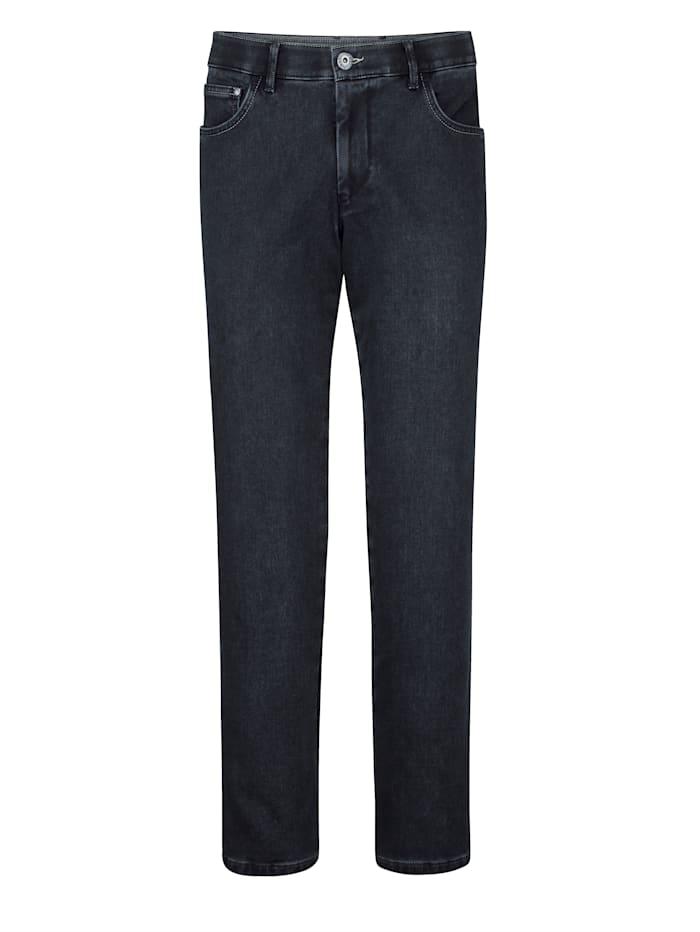 BABISTA Jeans med värmande insida i flanell, Mörkblå