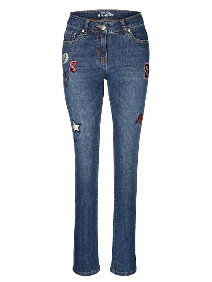 Jeans Laura Slim mit modischen Badges
