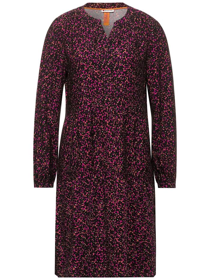 Street One Midi-Kleid mit Print, phlox pink