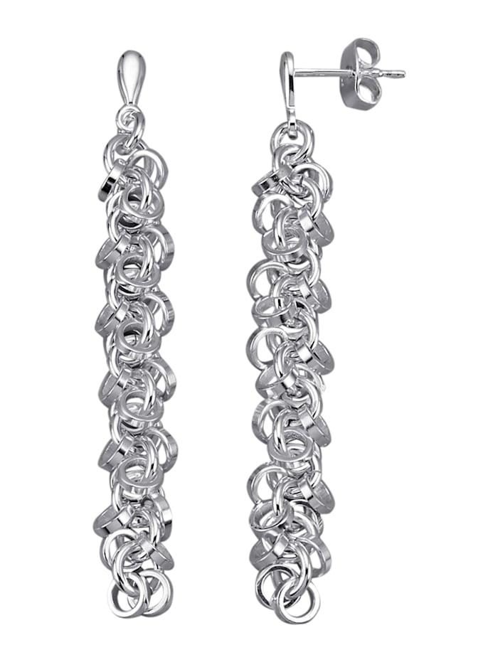 Diemer Trend Örhängen i stilren design, Silverfärgad