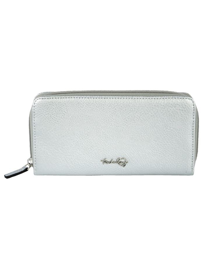 Taschenherz Vetoketjullinen lompakko, hopeanvärinen
