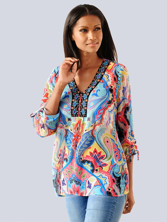 Alba Moda Tuniek met versierde hals, Blauw