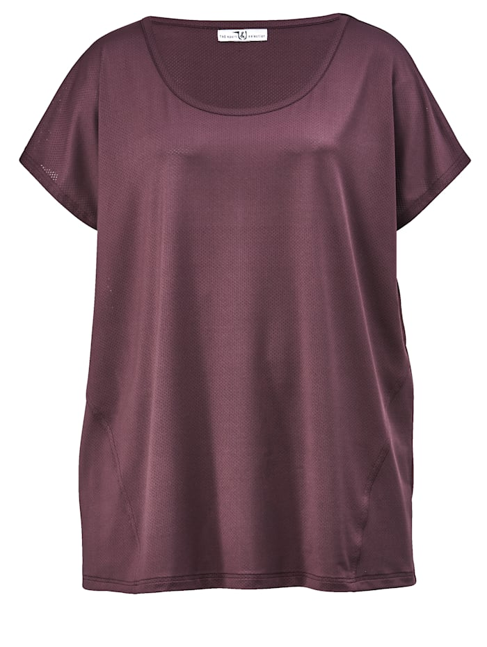Janet & Joyce T-shirt en matière technique de style sport, Mauve