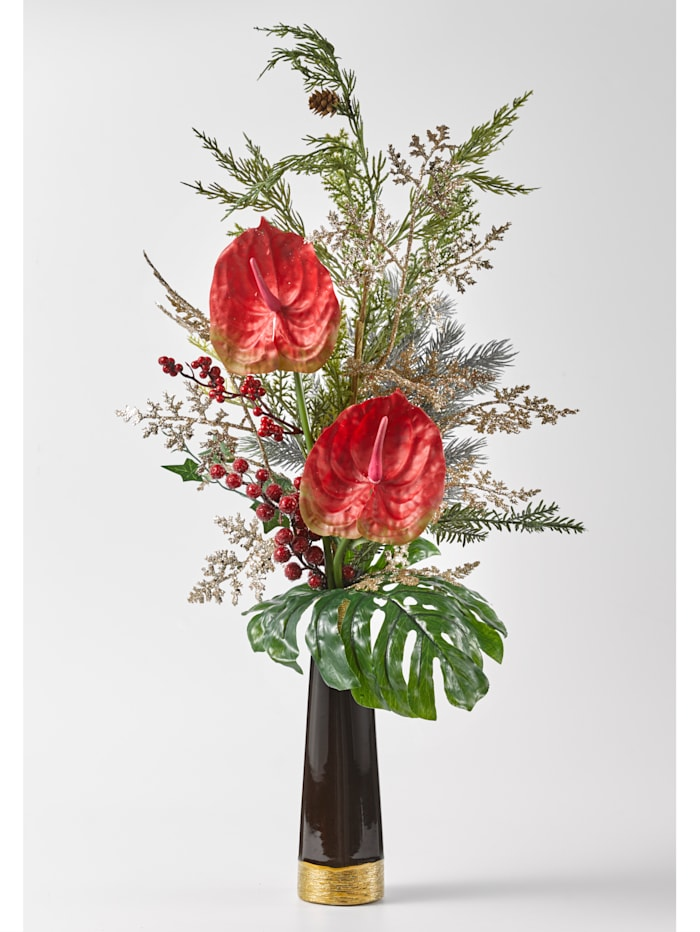 IGEA Anthurienarrangement in Vase, rot