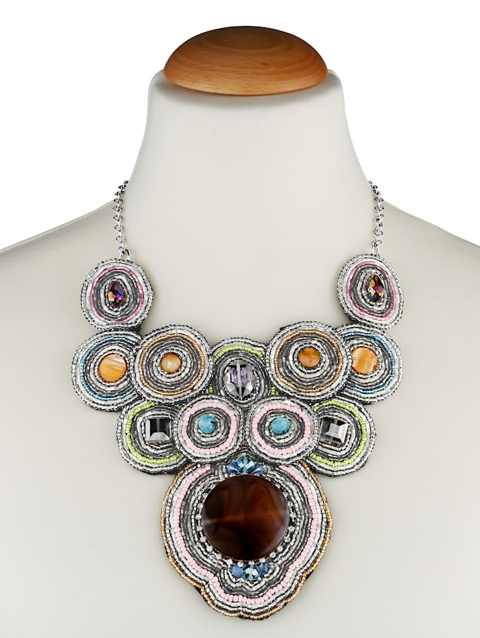 Statement necklace with Agate