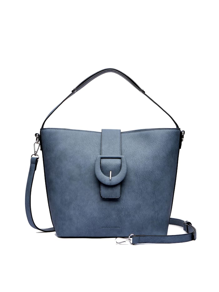 Collezione Alessandro Handtasche Blue Jeans mit dekorativer Gürtelschließe, blau