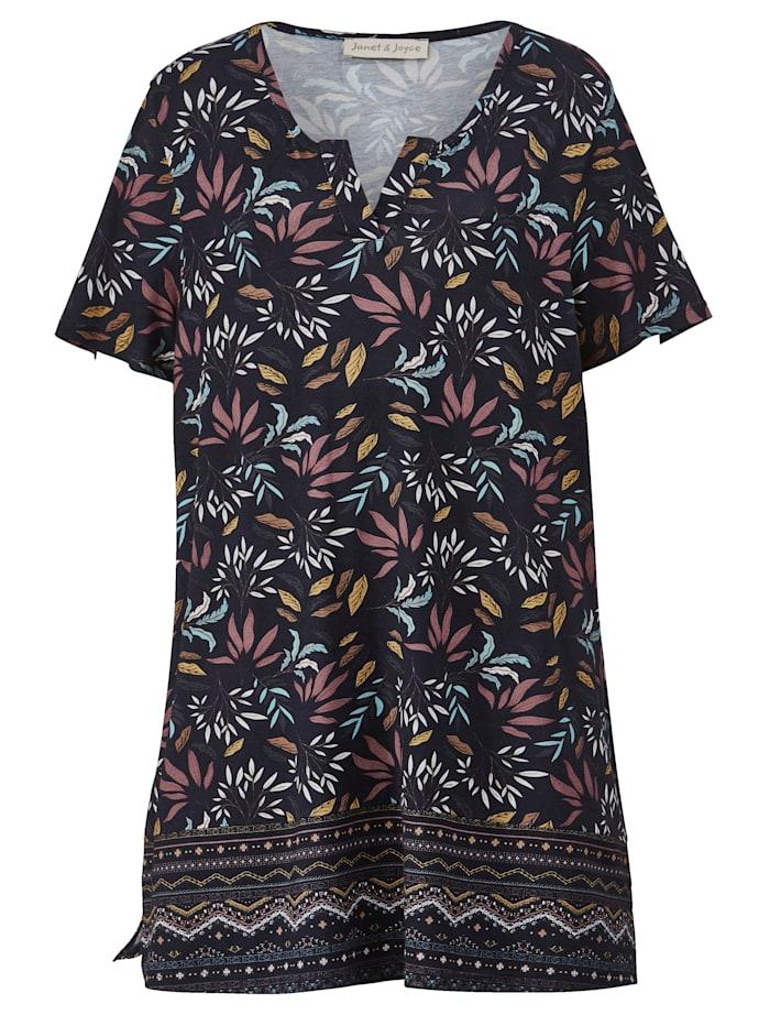 Tunika-Shirt mit Alloverprint