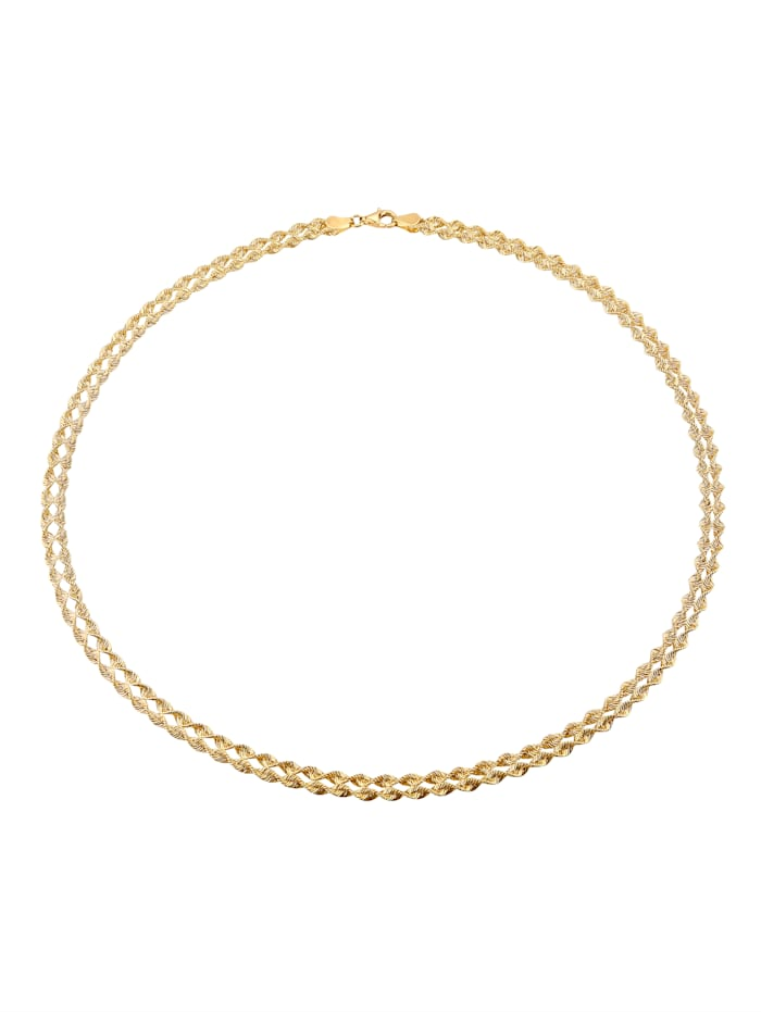 Kordel-Collier 2rhg. in Gold