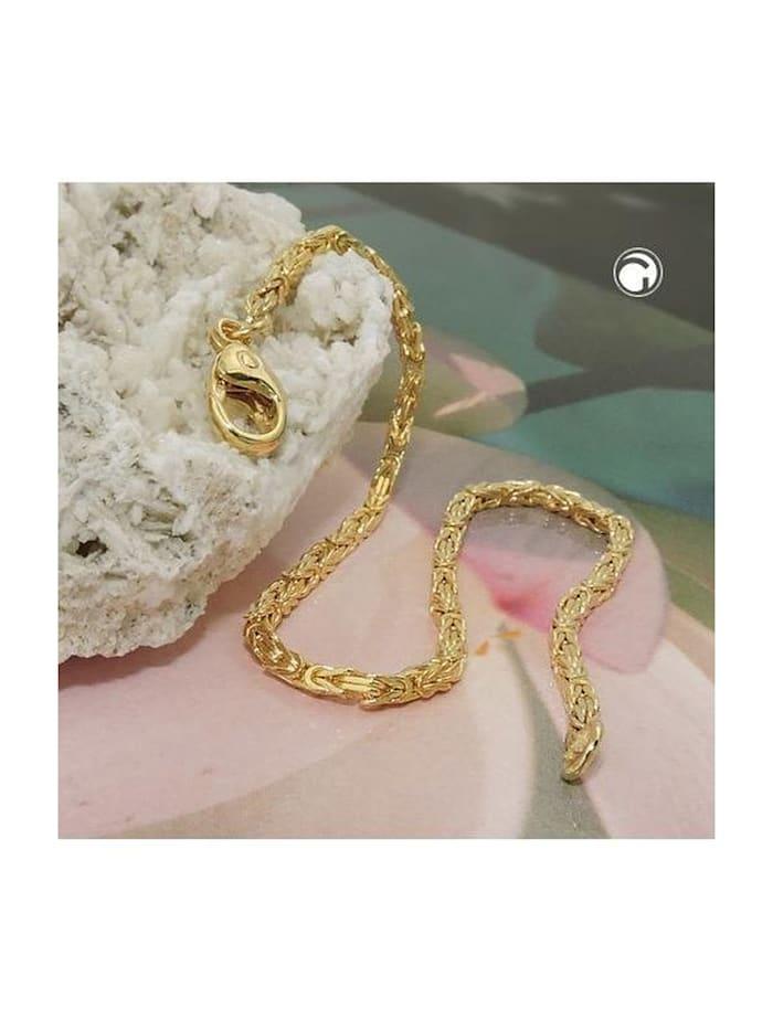 Gallay Schmuckgroßhandel Armband 1,8mm Königskette 14Kt GOLD 19cm, gold