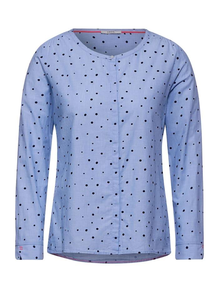 Cecil Chambray-Bluse mit Punkten, blouse blue