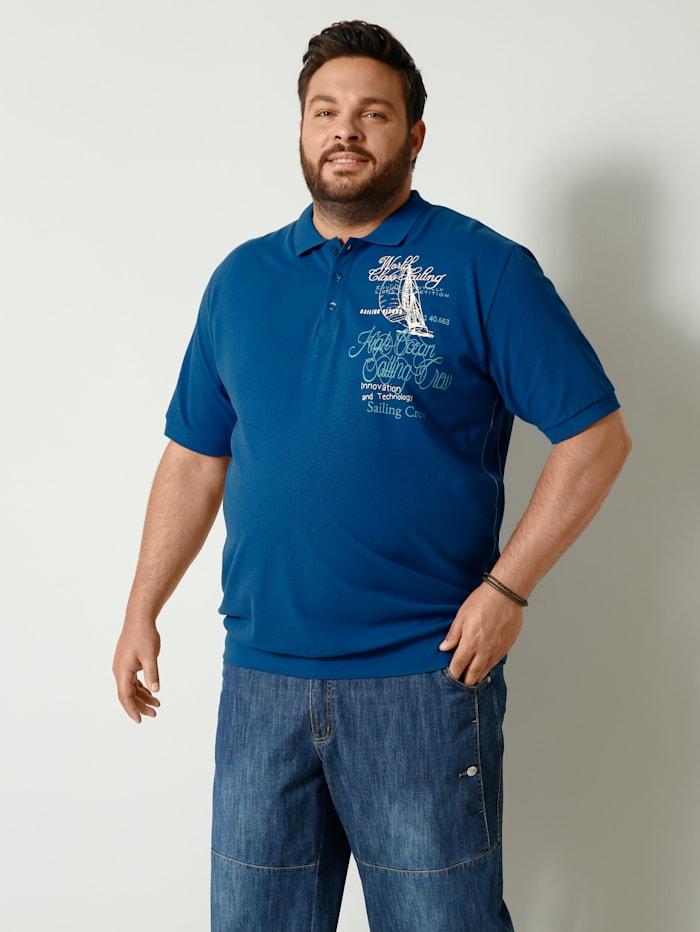Men Plus Poloshirt Spezialschnitt, Royalblau