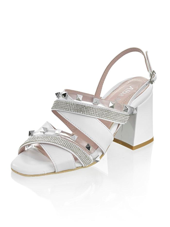 Alba Moda Sandále s nitmi, Biela