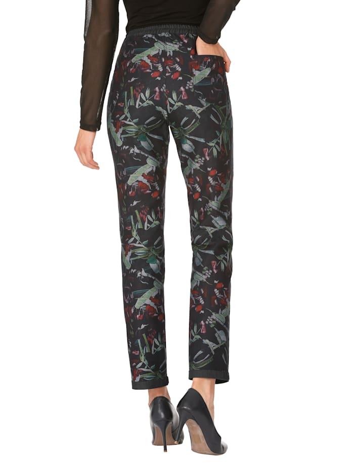 Wendehose mit grafischem Muster in Jeansqualität