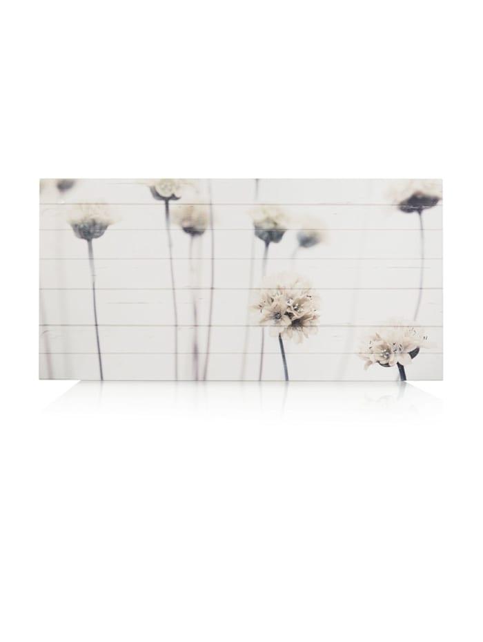 MARAVILLA Wandbild, weiß/grau