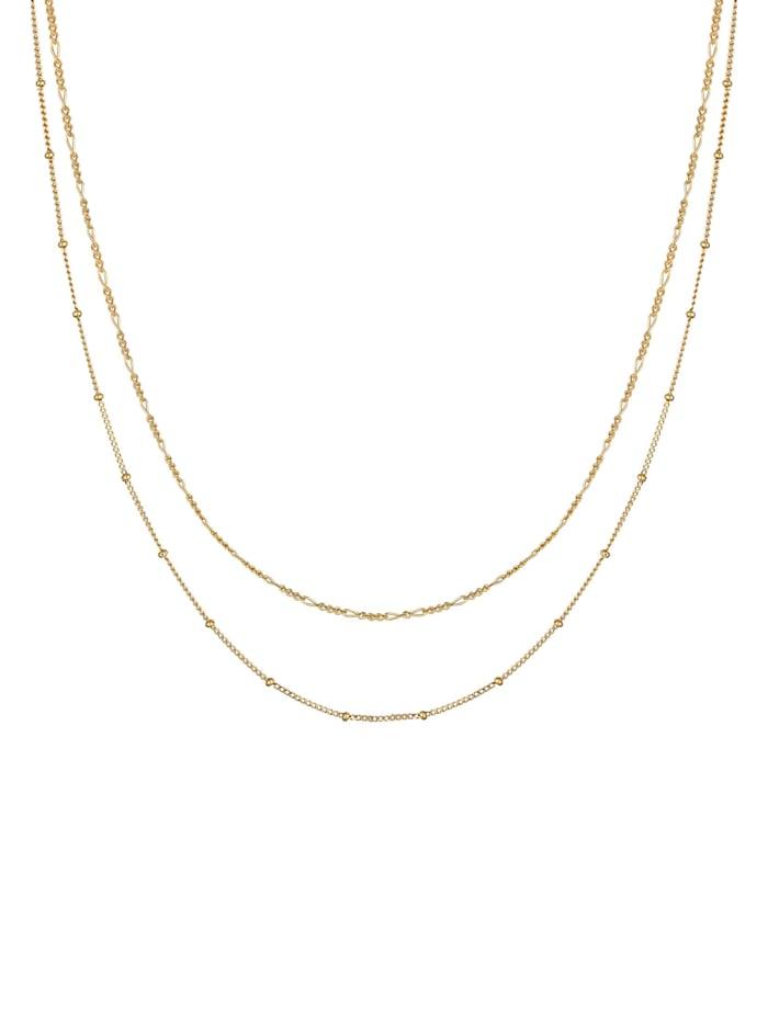 Halskette Basic 2Er Set Kugelkette Figarokette 925 Silber