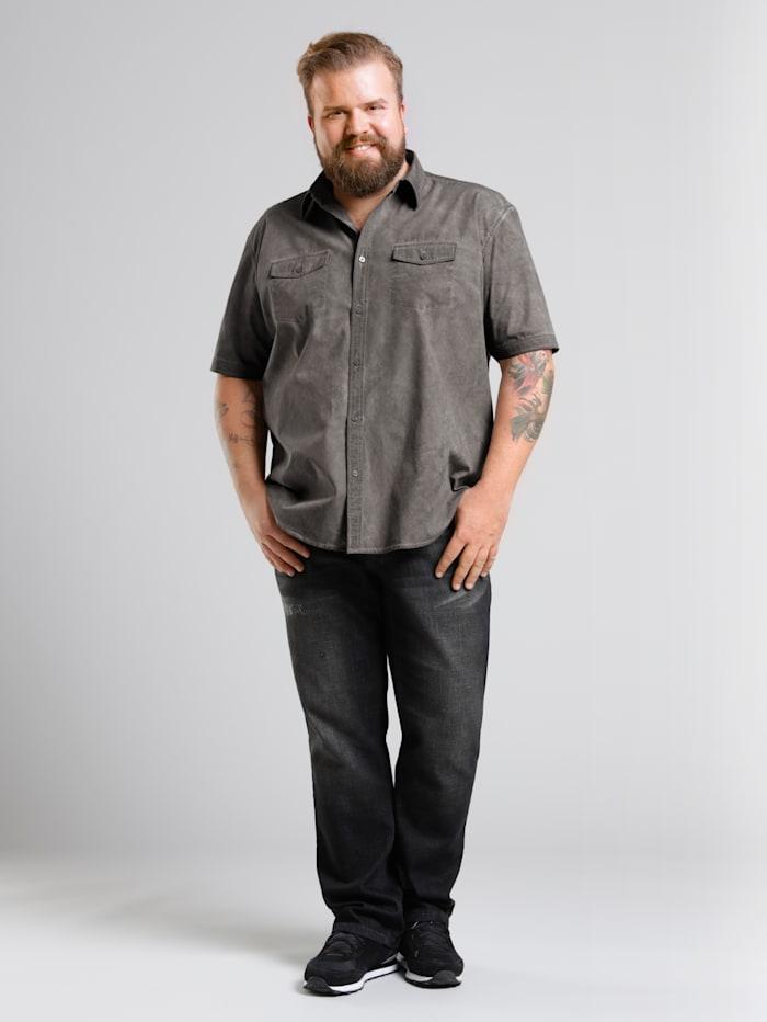 Men Plus Jeans met speciale pasvorm, Black