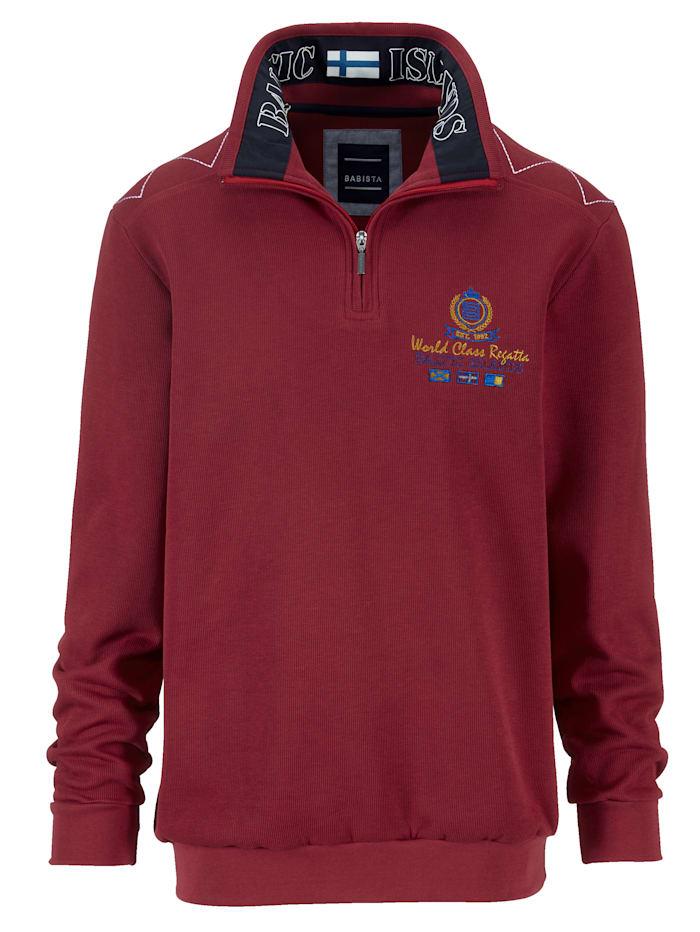 BABISTA Sweatshirt med maritima detaljer, Röd