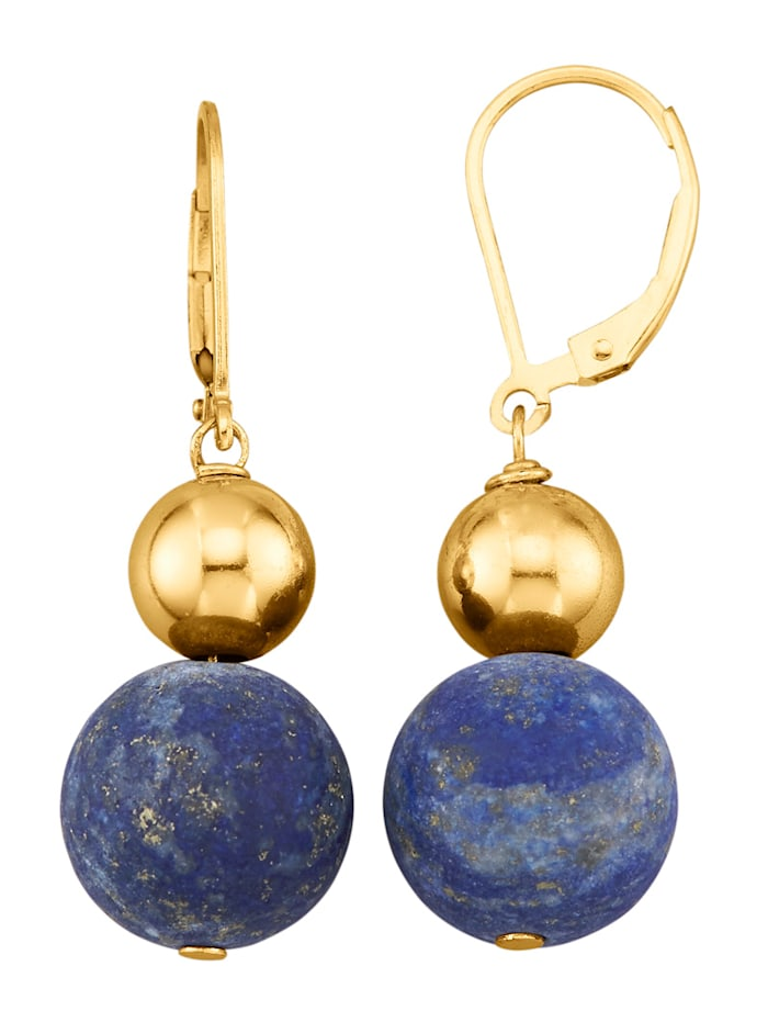 Oorbellen met lapis lazuli (beh.), Blauw