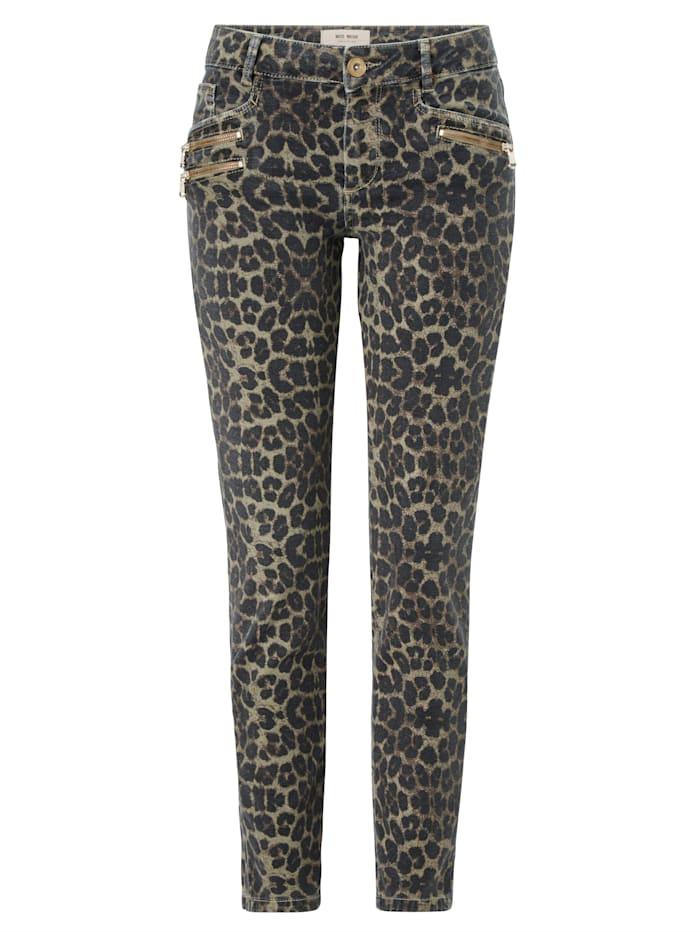 MOS MOSH Jeans mit Leomuster, Rosé