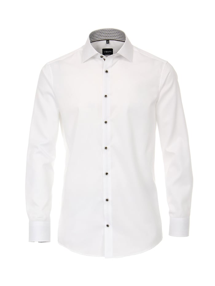 Venti Hemd uni Modern Fit, Weiß