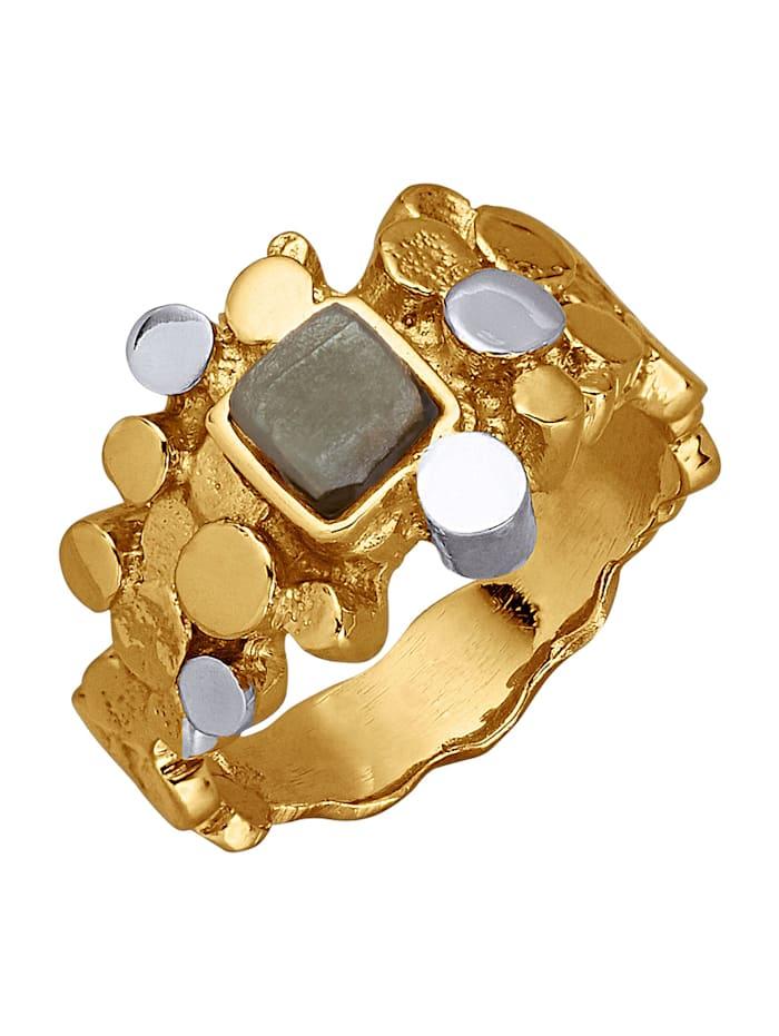 AMY VERMONT Bague avec diamant brut, Coloris or jaune