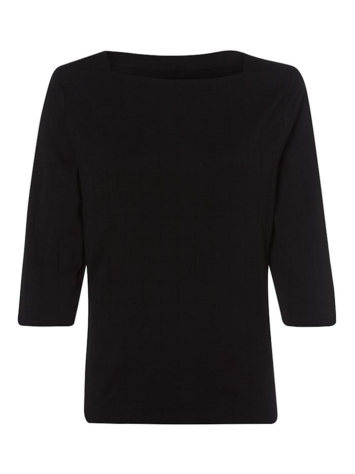 Olsen T-Shirt mit U-Boot-Ausschnitt, Black
