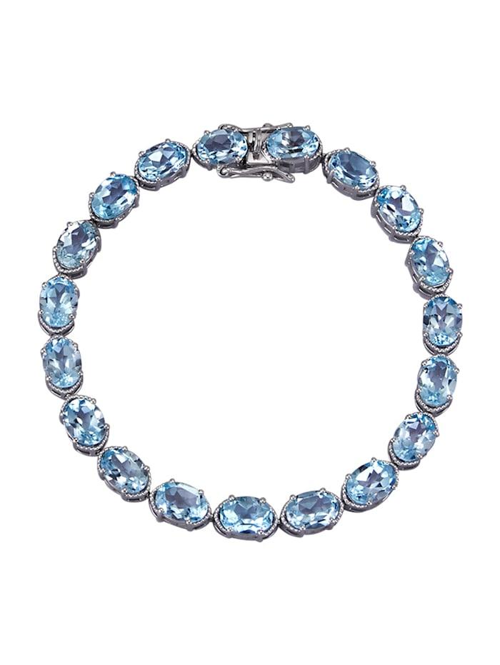 Armband mit Blautopas, Blau