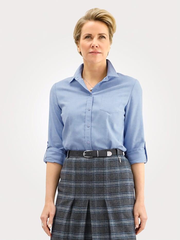 MONA Bluse aus reiner Baumwolle, Hellblau