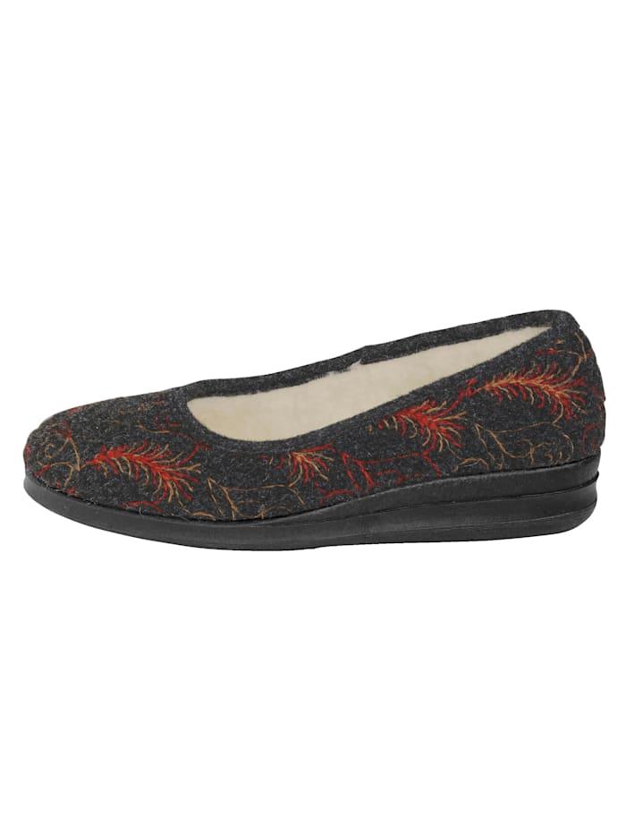 Domácí obuv se střižní vlnou podšité
