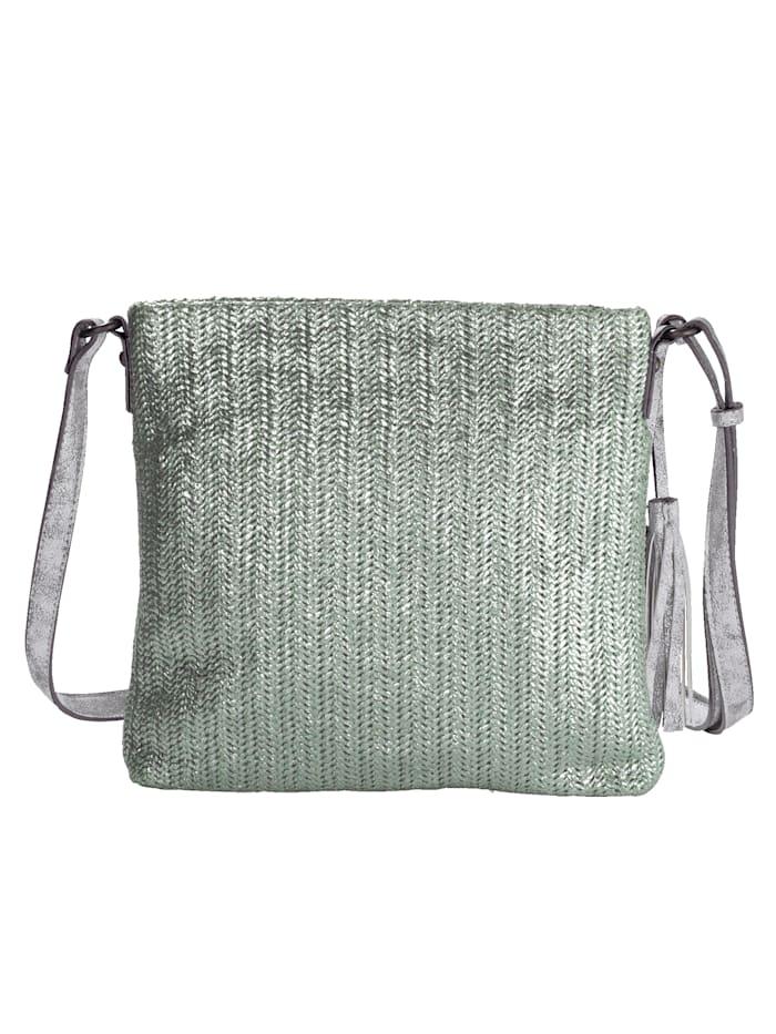 SURI FREY Shoulder bag with shimmering soft material, Mint