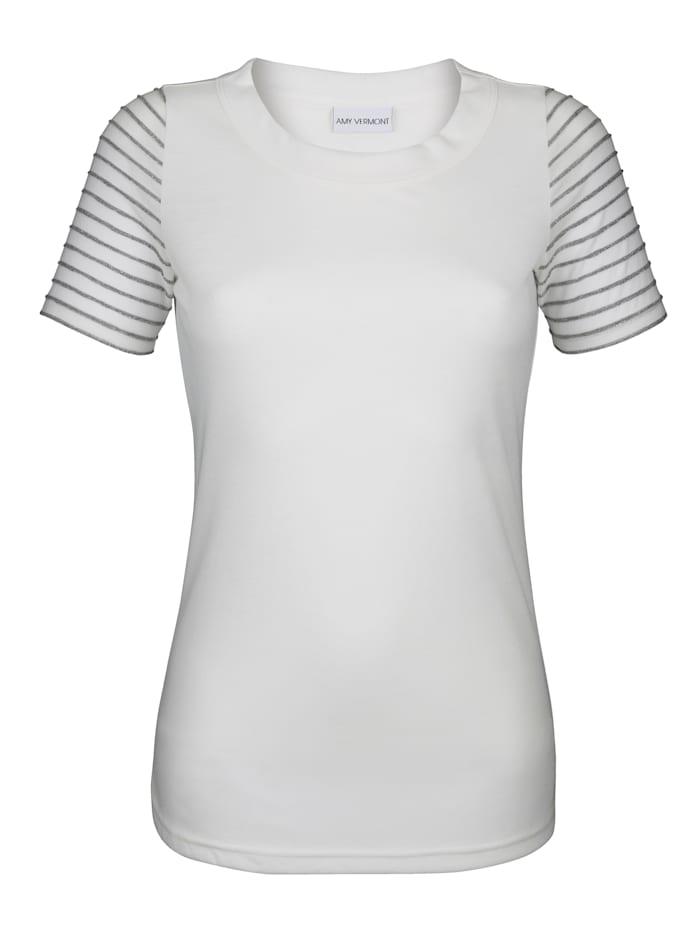 Shirt met gestreepte mouwen