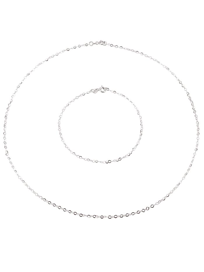 6tlg. Schmuck-Set in Silber 925, Silberfarben