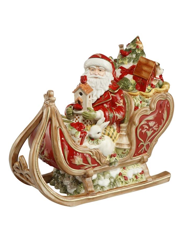 Fitz&Floyd Fitz&Floyd Dose Santa auf Schlitten, Bunt