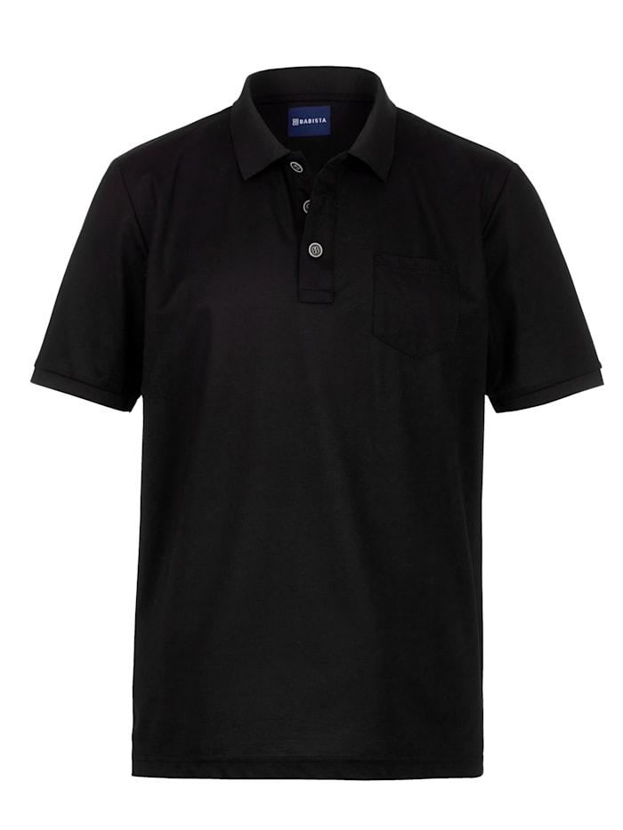 Babista Premium Polo en soie raffinée, Noir