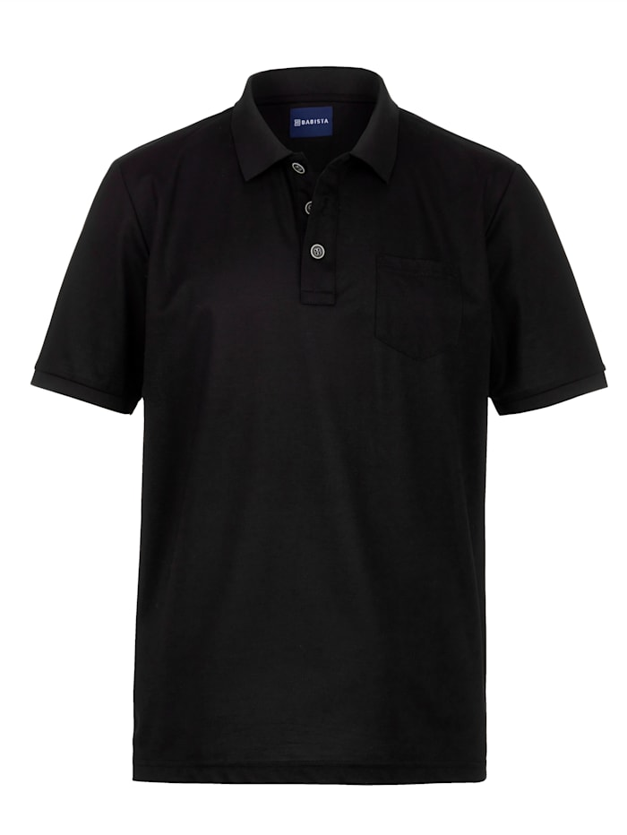 Babista Premium Poloshirt met fijne zijde, Zwart