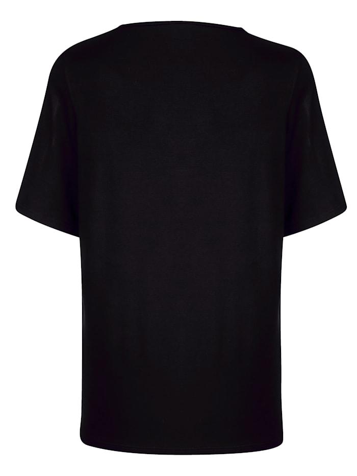 Shirt met sierknopen bij de hals