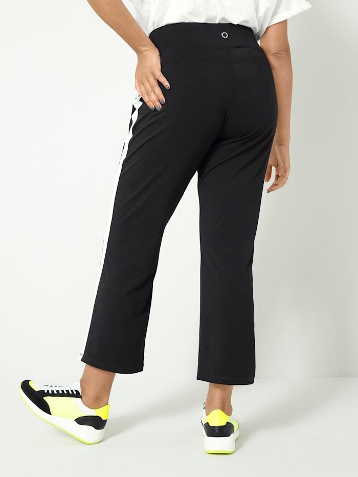 Nohavice s kontrastným prúžkom na boku